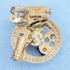 Handcrafted Nautical Decor Round Sextant Sculpture