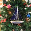 Handcrafted Model Ships Christmas Tree Ornament Sailboat
