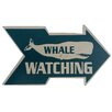 Handcrafted Model Ships Wooden Arrow Whale Watching Beach Sign Wall Decor