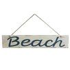 "Handcrafted Nautical Decor 14"" Wooden Rustic Beach Sign Wall Décor"