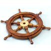 Handcrafted Model Ships Deluxe Class Ship Wheel Wall Décor