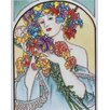 "<strong>En Vogue</strong> 14"" x 11"" Lady Art Tile in Multi"