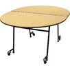 Palmer Hamilton Mobile Folding Cafeteria  Adjustable Height Elongated Table
