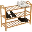 <strong>100% Natural Bamboo 3 Shelves Shoe Rack</strong> by Trademark Innovations