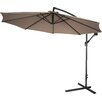 "Trademark Innovations 120"" Deluxe Polyester Offset Patio Umbrella"