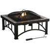 Pleasant Hearth Hampton Natural Slate Fire Pit in Rubbed Bronze