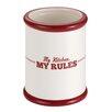 "Cake Boss ""My Kitchen, My Rules"" Ceramic Tool Crock"