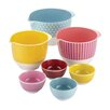 Countertop Accessories 7 Piece Melamine Mixing and Prep Bowl Set