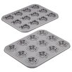 <strong>Cake Boss</strong> Specialty Bakeware Nonstick 2 Piece Heart and Flower Molded Cookie Pan Set