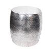 Donny Osmond Home Aluminum Hammered Stool