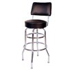 Retro Home Double Ring Swivel Bar Stool