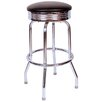 "<strong>Richardson Seating</strong> Retro Home 24"" Swivel Bar Stool with Cusion"