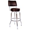 "<strong>Richardson Seating</strong> Retro Home 30"" Swivel Bar Stool with Cusion"