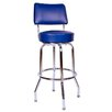 """<strong>Richardson Seating</strong> Retro Home 24"""" Swivel Bar Stool with Cushion"""