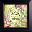 The James Lawrence Company Our Family Today's Moments Framed Graphic Art