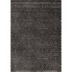 Kalora Boulevard Glitz Low Pile Dark Grey Geometric Area Rug