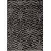 Kalora Boulevard Glitz Low Pile Dark Grey Geometric Rug