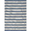 Kalora Alpha Blue Nautical Stripes Area Rug