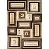 Kalora Mansoori Textured Beige Squares Area Rug