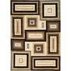 <strong>Mansoori Textured Beige Squares Rug</strong> by Kalora