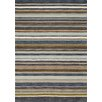 Kalora Mansoori Textured Blue Stripes Area Rug