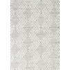 Kalora Boulevard Glitz Low Pile Light Grey/White Geometric Area Rug