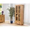Hometime Stirling Oak Glazed Display Tall Unit