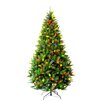 Hometime Snowtime 7.5' Green Pre-Lit Carolina Pine Artificial Christmas Tree with 650 Color Lights