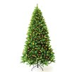 Hometime Snowtime 7.5' Pre-Lit Charlotte Spruce Artificial Christmas Tree with 700 Clear Lights