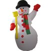 Hometime Snowtime Illuminated Inflatable Snowman with Merry Christmas Sign Decoration