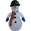 Hometime Snowtime Illuminated Inflatable Snowman Christmas Decoration