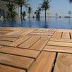 "Cortesi Home EZ-Floor 12"" x 12"" Interlocking Flooring Tile Trim in Teak (Set of 10)"
