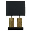 "Cortesi Home Stump 20.5"" H Table Lamp with Rectangle Shade"