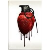 "Cortesi Home ""Heart Grenade"" by Nicklas Gustafsson Graphic Art on Canvas"