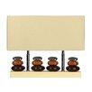 "Cortesi Home LumiRock Quadro 15"" H Table Lamp with Oval Shade"
