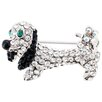 <strong>Fantasyard</strong> Dachshund Dog Animal Crystal Brooch