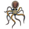 <strong>Fantasyard</strong> Octopus Crystal Brooch