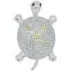 Fantasyard Turtle Crystal Brooch