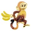Fantasyard Monkey and Bananas Animal Crystal Brooch
