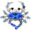 <strong>Fantasyard</strong> Crab Crystal Brooch