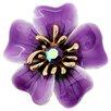 Fantasyard Oleander Flower Crystal Brooch Pendant