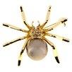 Fantasyard Spider Pearl Crystal Brooch