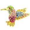 <strong>Fantasyard</strong> Hummingbird Crystal Brooch