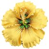 <strong>Sea Hawaiian Hibiscus Flower Crystal Brooch Pendant</strong> by Fantasyard