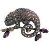 Fantasyard Chameleon Reptile Crystal Brooch