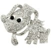 <strong>Fantasyard</strong> Dog Animal Crystal Brooch