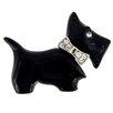 Fantasyard Scottish Terrier Crystal Brooch