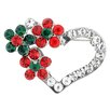 <strong>Fantasyard</strong> Hearts with Flower Valentines Perovskia Crystal Brooch