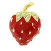 <strong>Fantasyard</strong> Strawberry Lapel Crystal Brooch