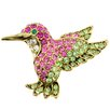 <strong>Fantasyard</strong> Hummingbird Bird Lapel Perovskia Crystal Brooch